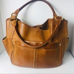 J Crew Collection Hobo Leather distressed Tote